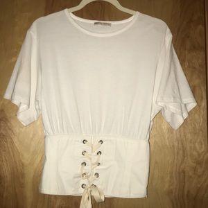 Zara women's corset tee